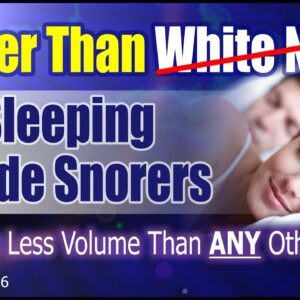 (1 of 6) 2.5X Better Than White Noise To Block Out Snoring Completely