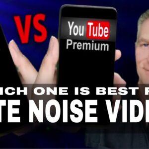 Black Screen VS YouTube Premium: What's Best For White Noise Videos?