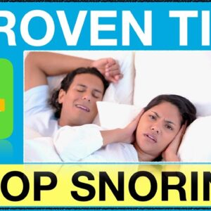 4 Tips To Stop Snoring Naturally Starting Tonight - Natural Ways To GET RID OF LOUD SNORING
