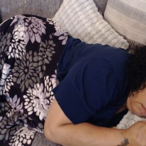 napping snoring mom
