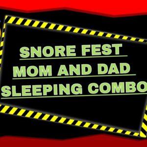 SNORING Mom and Dad SLEEPING Series Pt  2 w/ some lights ASMR