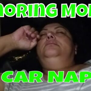 Snoring Mom Napping in Car