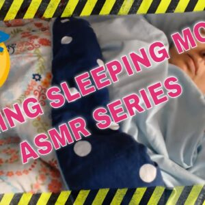 SNORING MOM SLEEPING ASMR SERIES part 35 COVERED WITH LIGHTS ON