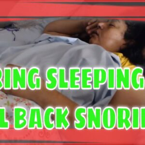 SNORING MOM SLEEPING ASMR SERIES PART 41 ON BACK ONLY