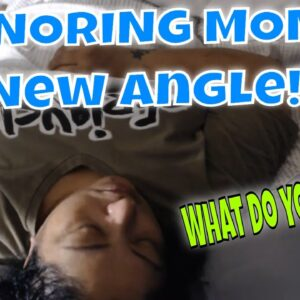 SNORING MOM SLEEPING ASMR SERIES TRYING OUR NEW ANGLE