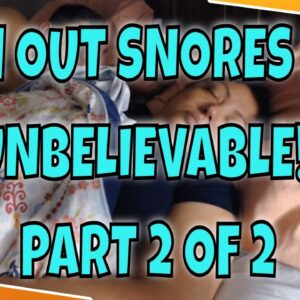 SNORING SLEEPING DAD AND MOM ASMR SERIES WITH LIGHT ON PART 2 OF 2