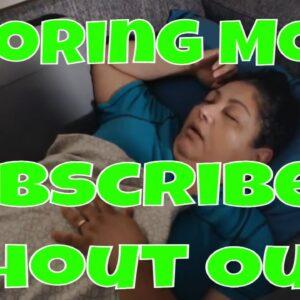 Snoring Mom Sleeping Series with Decibel X Wow Wow Wow